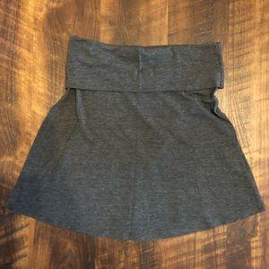 Splendid Gray Foldover Waist Jersey Skirt XS NWOT